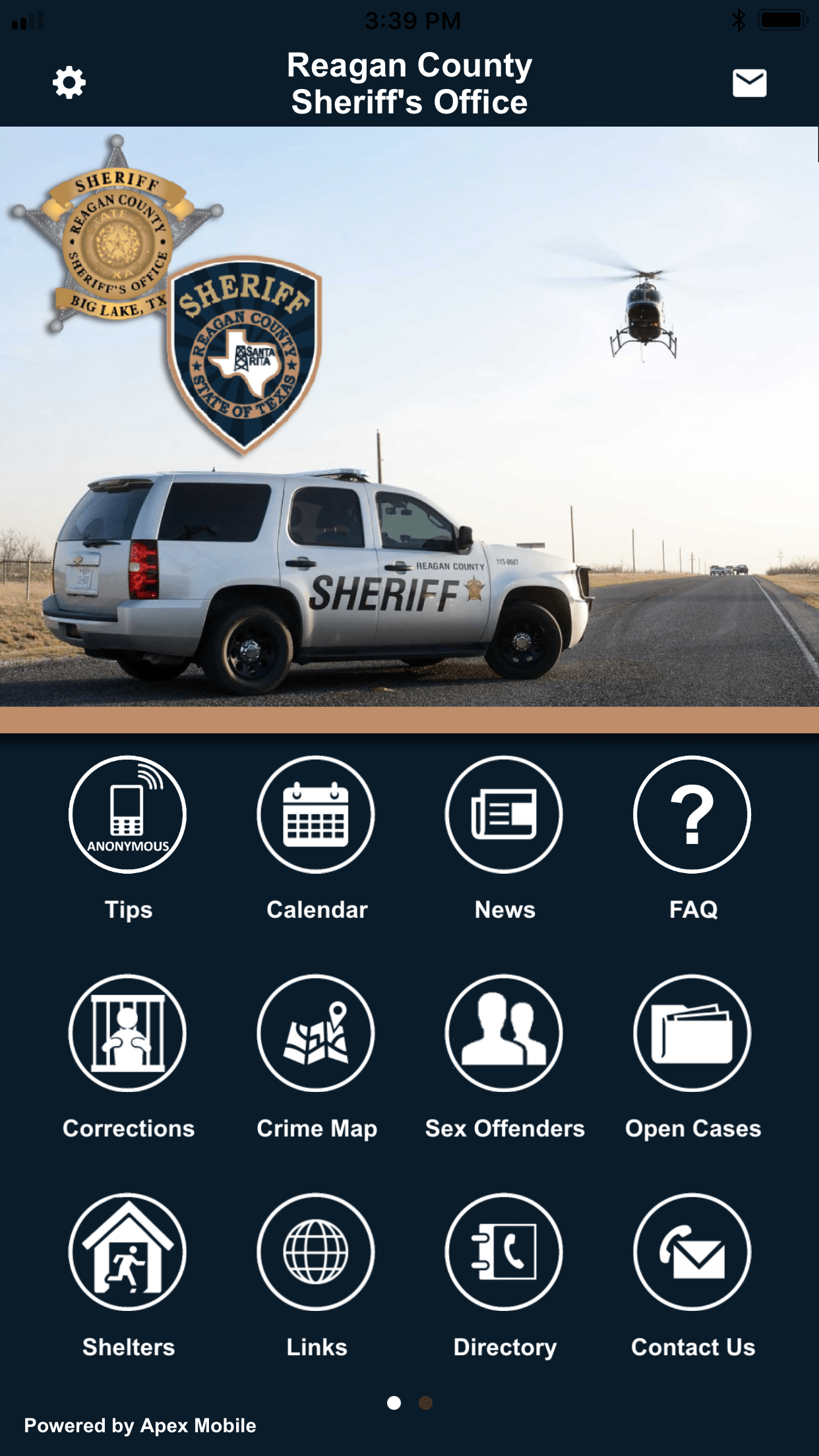 Reagan County Sheriff's Office Mobile App Screenshot