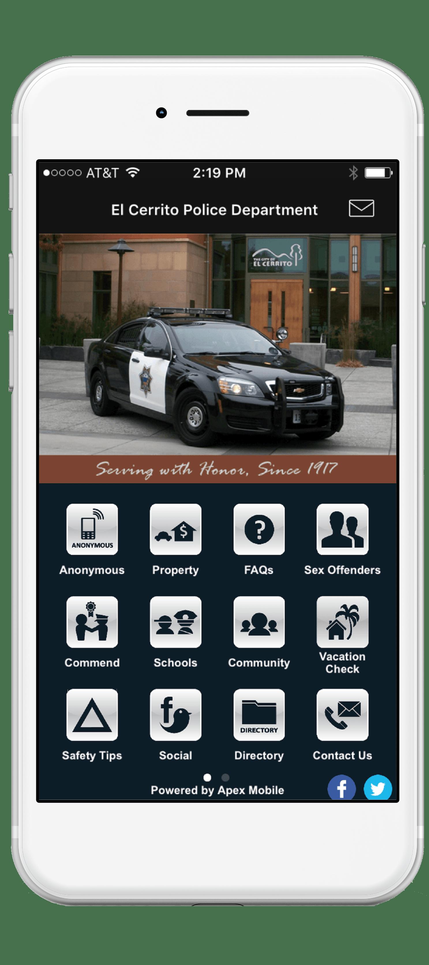 El Cerrito police departmetn mobile app screenshot-min