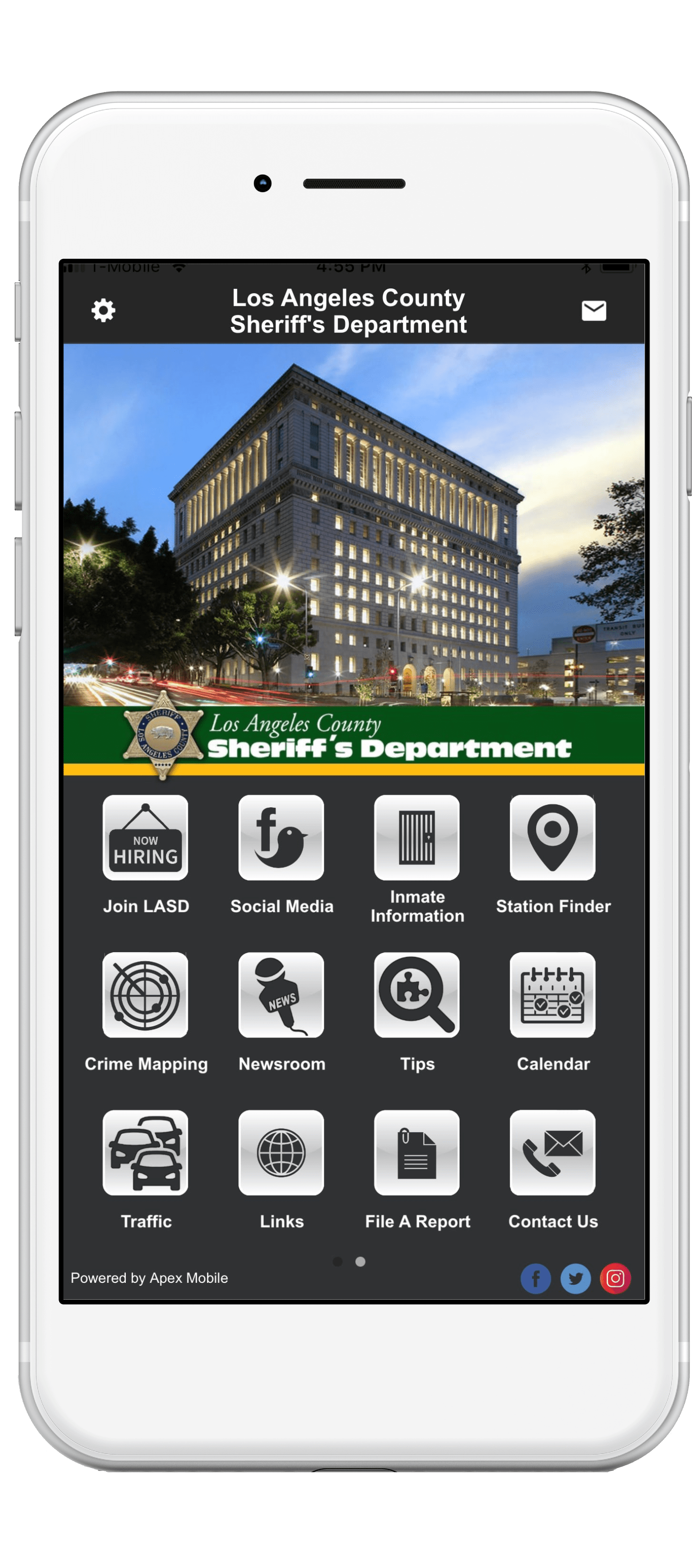 LASD mobile app screenshot-min