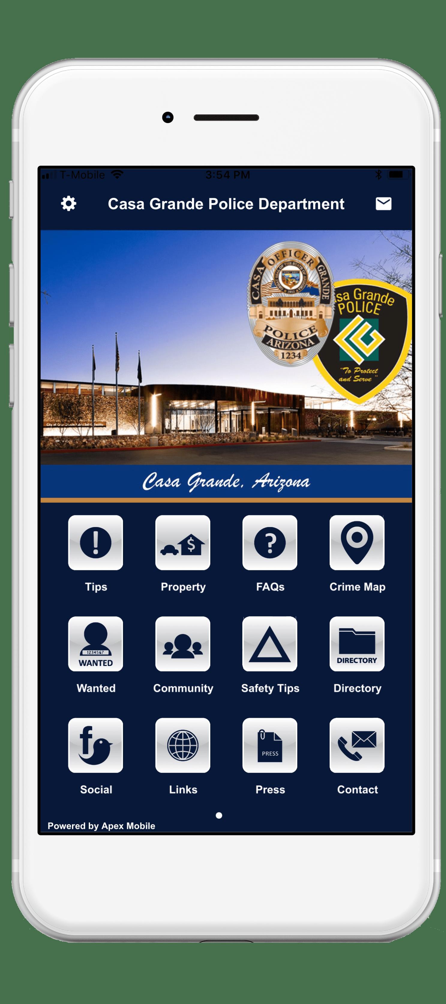 casa grande police department mobile app screenshot-min