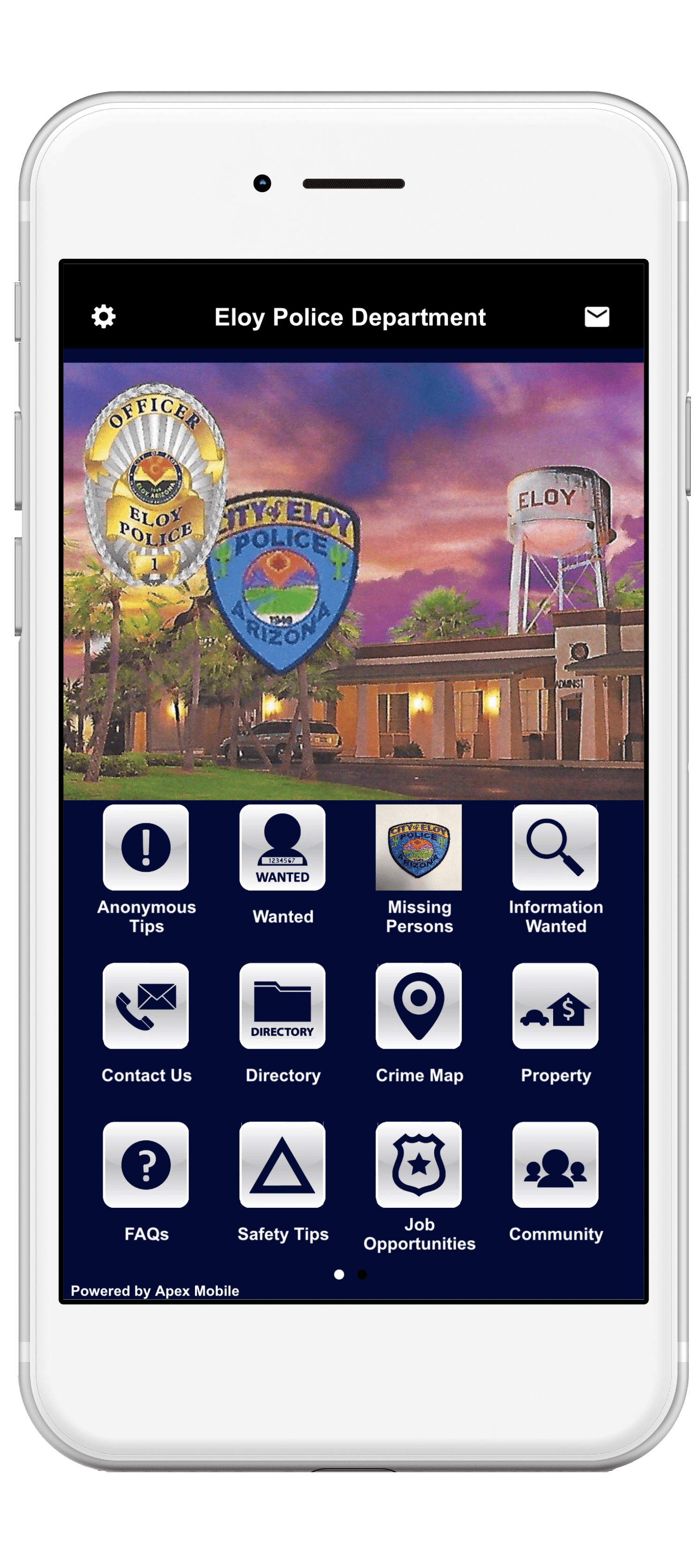 eloy police department mobile app screenshot-min