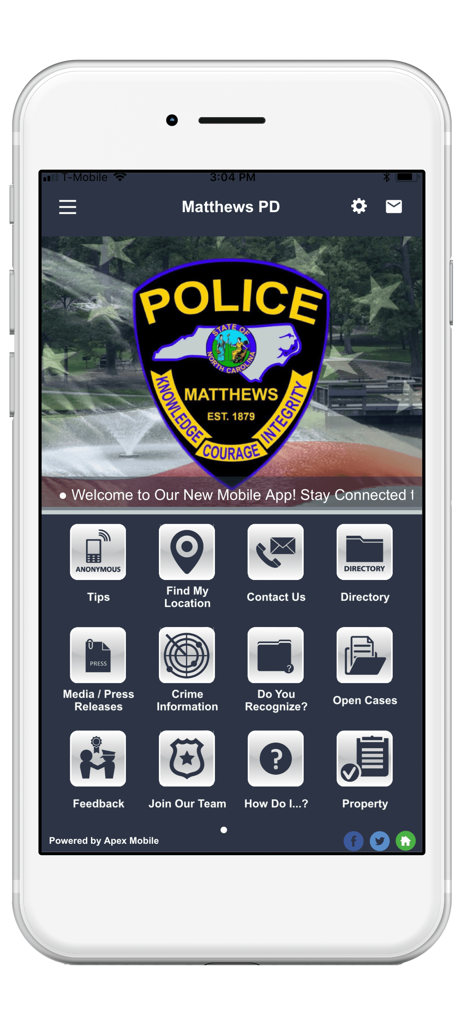 matthews police department mobile app screenshot-min