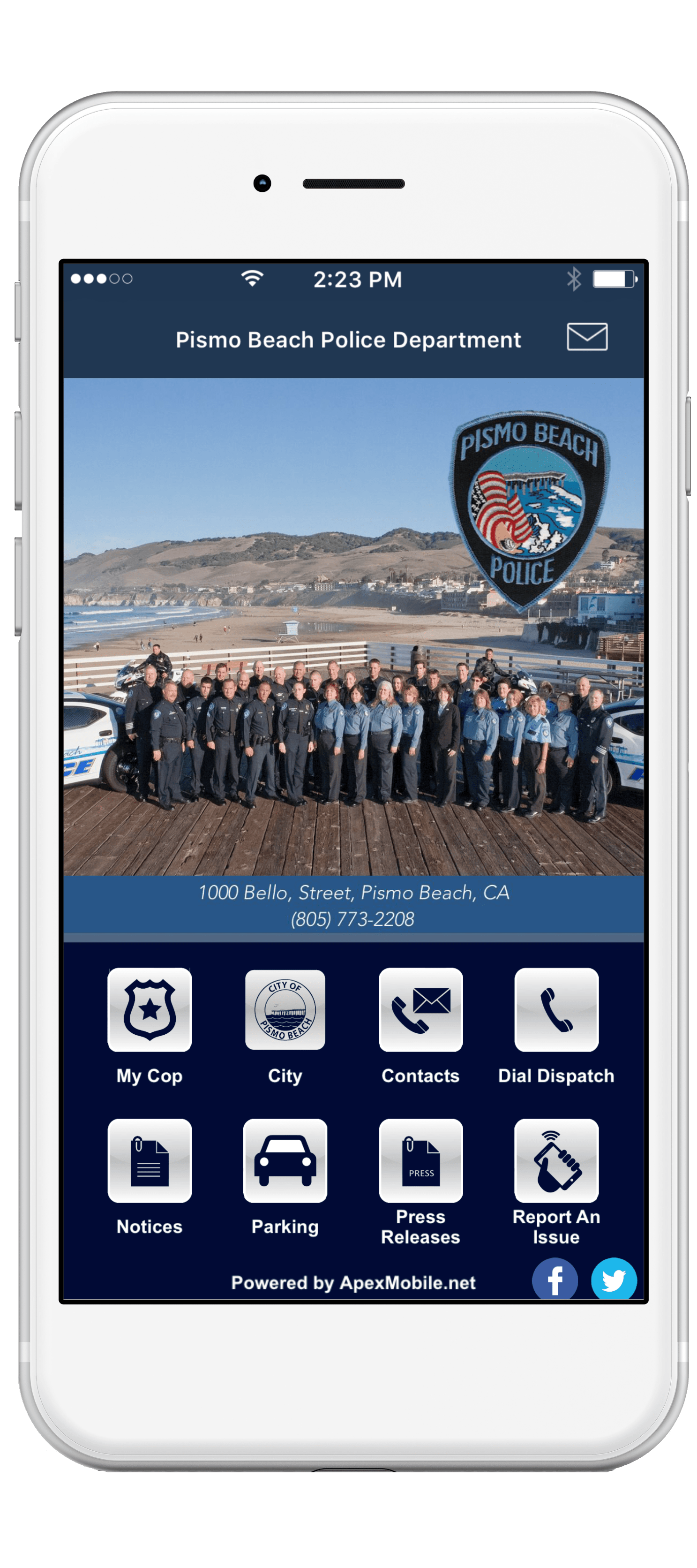 pismo beach police department mobile app screenshot-min