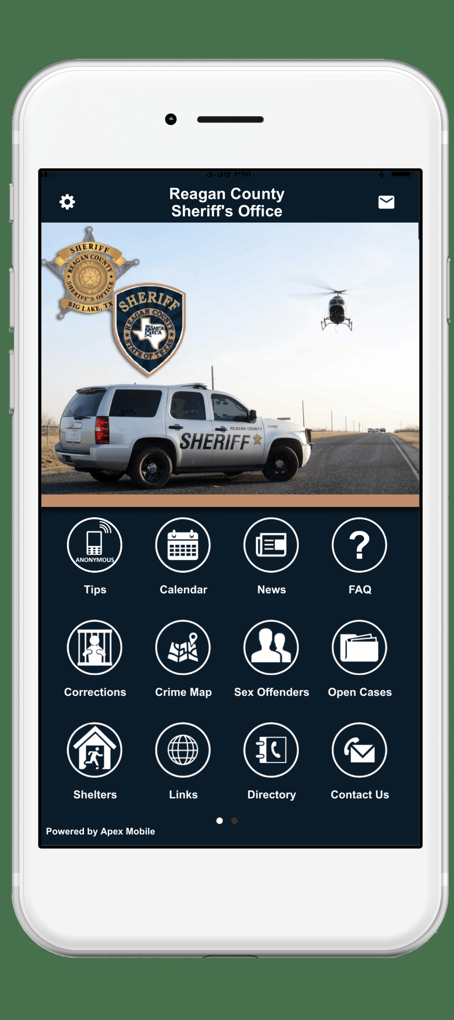 reagan county sheriff mobile app screenshot-min